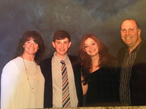 Meet my family... (from left to right) Jodi(The mom),Dan(The son), Ellie(the daughther), Sam(the dad)
